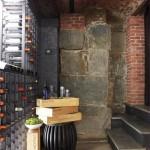 Luxury Home Renovation - coal shoot turned wine cellar