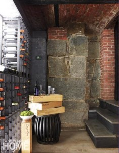 Luxury Home Renovation - coal shoot turned wine cellar