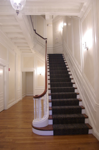 Staircase Restored to Historic Preservation Requirements
