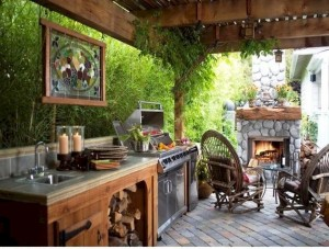 Outdoor Kitchen with Pergola - Connaughton Construction