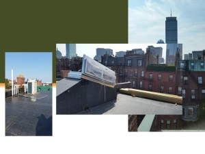 Current Project 310 Marlborough Street - Roof Deck View of Prudential - Connaughton Construction