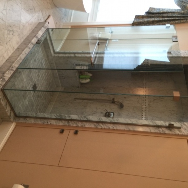 Master Bath Walk-in Glass Shower
