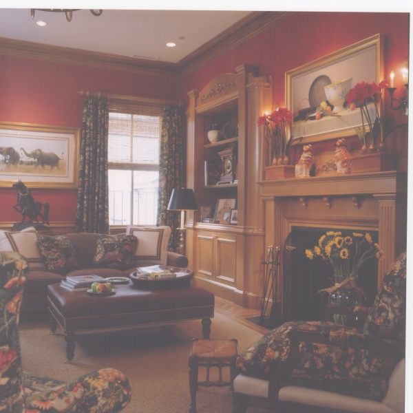 Aristocrat Decor Sitting Room with Fireplace focal point. Connaughton Construction.