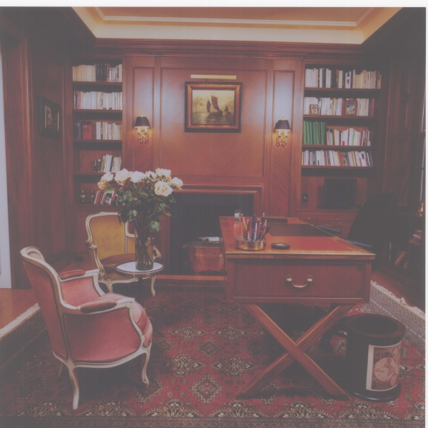 Warm Rich wood tones in this study.