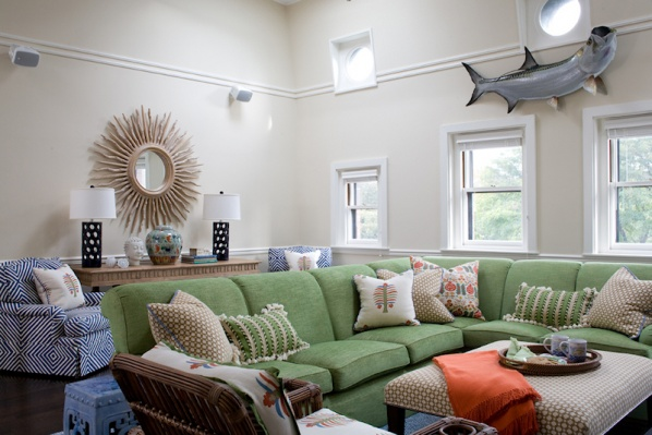 Nautical Room in a New Construction Home by Connaughton Construction