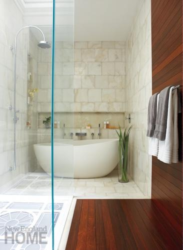 Master bath sky lighted floor