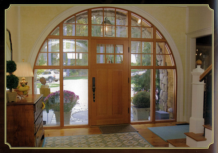 Inside Arched Doorway Old Concord Road - Custom Build by Connaughton Construction